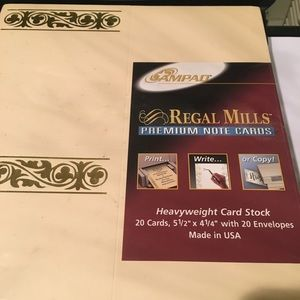20 Cards by Regal Mills and 95 Business Cards NWT